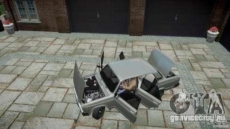 ВАЗ 2107 v1.0 для GTA 4 вид сзади