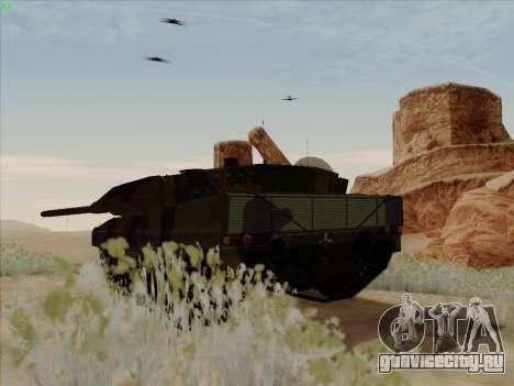 Leopard 2A6 для GTA San Andreas вид сзади слева