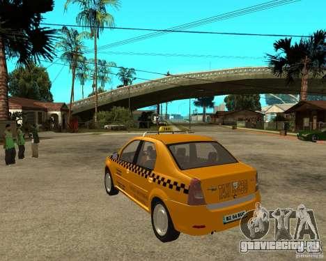 Dacia Logan Taxi Bucegi для GTA San Andreas вид сзади слева