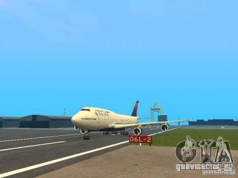 Boeing 747-400 Delta Airlines для GTA San Andreas
