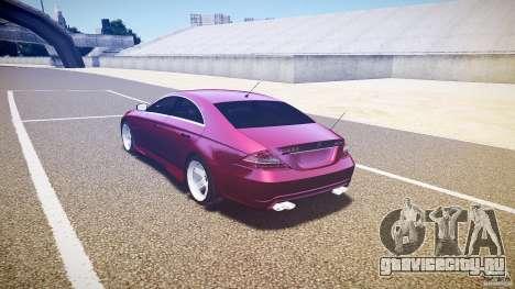 Mercedes Benz CLS Light Tuning v1.0 Beta для GTA 4 вид сзади слева
