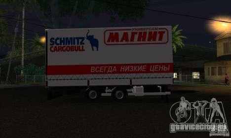 Прицеп для Scania R620 для GTA San Andreas вид слева
