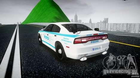 Dodge Charger NYPD 2012 [ELS] для GTA 4 вид сзади слева