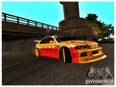 BMW M3 Calibri-Ace для GTA San Andreas вид слева
