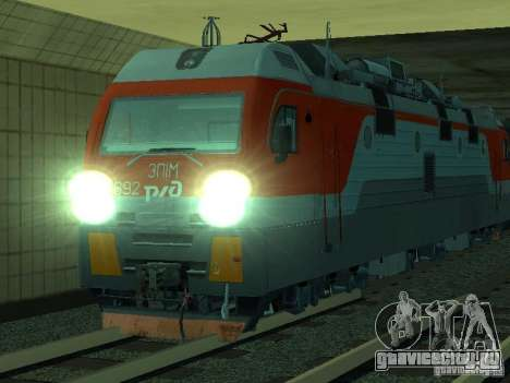 ЭП1М-392 ОАО РЖД для GTA San Andreas вид сверху