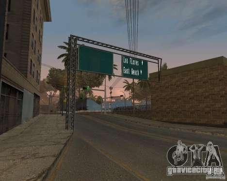 Дорожные указатели v1.0 для GTA San Andreas второй скриншот