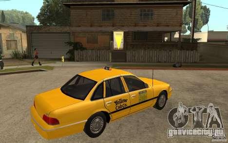 Ford Crown Victoria Taxi 1992 для GTA San Andreas вид справа