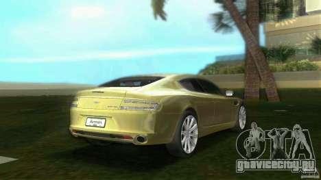 Aston Martin Rapide для GTA Vice City вид сзади слева