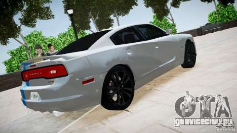 Dodge Charger SRT8 2012 для GTA 4 вид сзади