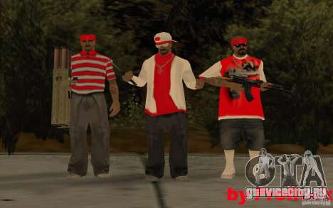 Новые скины The Los Aztecas Gang для GTA San Andreas