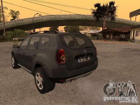 Dacia Duster для GTA San Andreas вид сзади