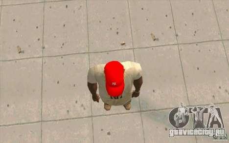 Кепка newyorkyankiys красная для GTA San Andreas третий скриншот