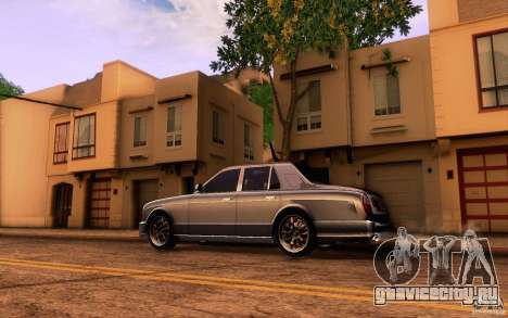 Bentley Arnage R 2005 для GTA San Andreas вид слева