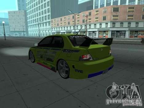 Mitsubishi Lancer Evolution 8 для GTA San Andreas двигатель