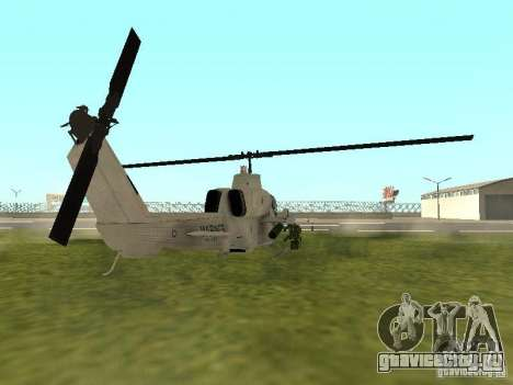 AH-1 Supercobra для GTA San Andreas вид сзади слева
