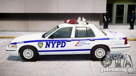 Ford Crown Victoria NYPD для GTA 4 вид сзади слева