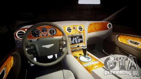 Bentley Continental GT v2.0 для GTA 4 вид сзади