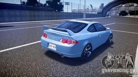 Acura RSX TypeS v1.0 Volk TE37 для GTA 4 вид сбоку