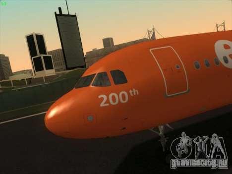 Airbus A320-214 EasyJet 200th Plane для GTA San Andreas салон