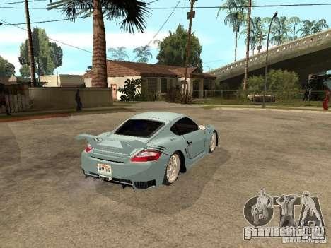 Porsche Cayman S для GTA San Andreas вид сзади слева