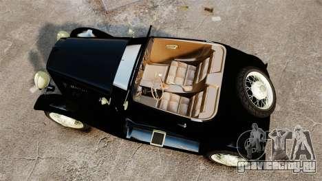 Ford Model T Sabre 1924 для GTA 4 вид справа