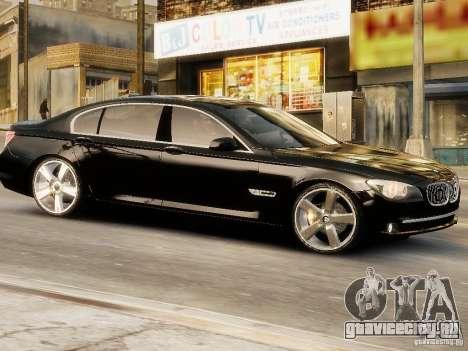 BMW 750 LI 2010 для GTA 4 вид сзади слева