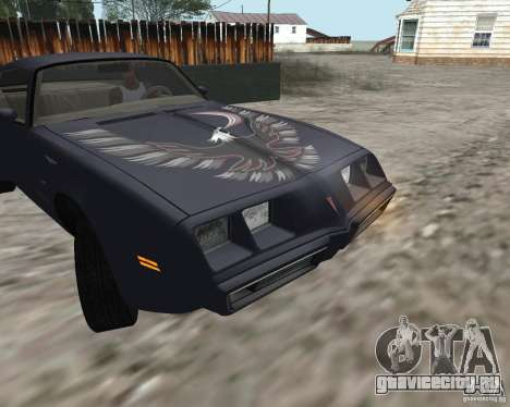 Pontiac Firebird Trans Am Turbo 1980 для GTA San Andreas вид слева