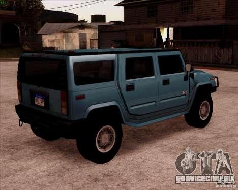 Hummer H2 SUV для GTA San Andreas вид сзади слева