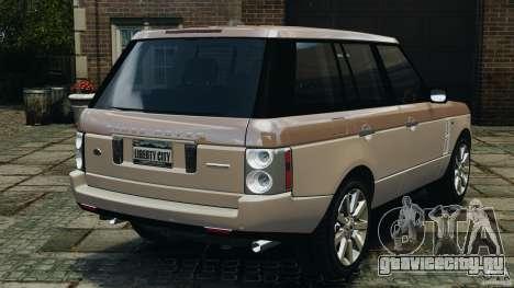 Range Rover Supercharged 2008 для GTA 4 вид сзади слева