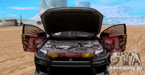 Mitsubishi Lancer Evolution RYO Vatanabe для GTA San Andreas вид сзади слева