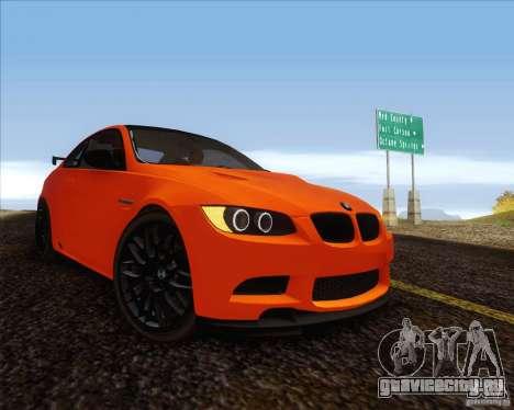 BMW M3 GT-S для GTA San Andreas вид сзади слева