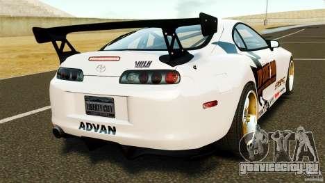 Toyota Supra Top Secret для GTA 4 вид сзади слева