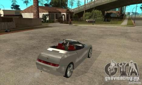 Alfa Romeo Spyder для GTA San Andreas вид справа