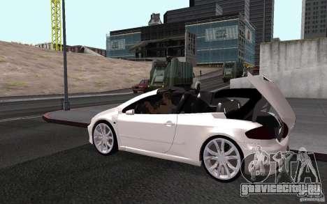 Peugeot 307CC BMS для GTA San Andreas вид сбоку