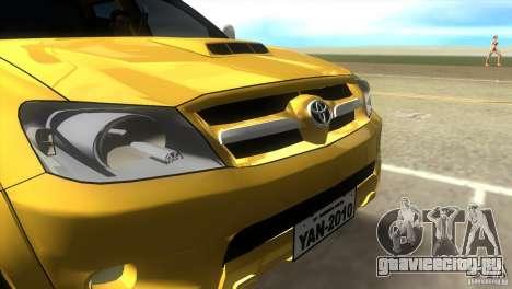 Toyota Hilux SRV 4x4 для GTA Vice City вид справа