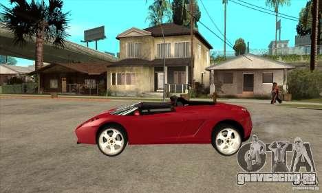 Lamborghini Concept S для GTA San Andreas вид слева