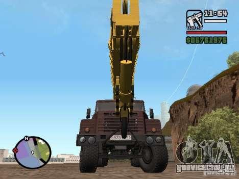 КрАЗ-250 MKAT-40 для GTA San Andreas вид справа