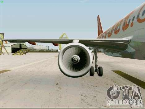 Airbus A319 Easyjet для GTA San Andreas вид сбоку