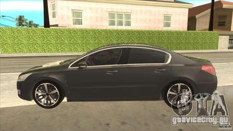 Peugeot 508 2011 EU plates для GTA San Andreas вид слева