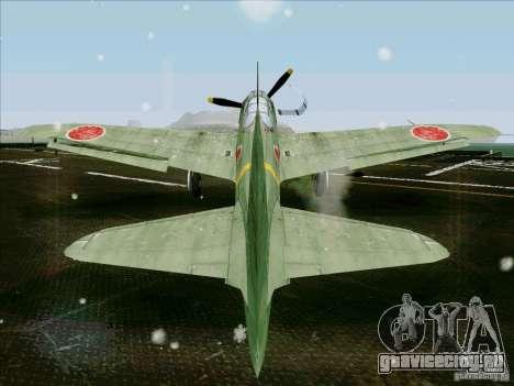 Японский самолёт для GTA San Andreas вид сзади слева