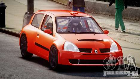 Renault Clio Sport для GTA 4 вид сзади