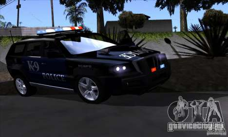NFS Undercover Police SUV для GTA San Andreas вид слева