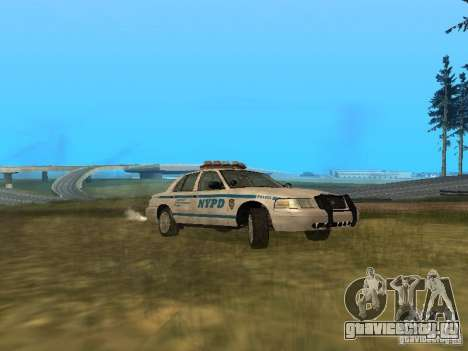 Ford Crown Victoria NYPD Police для GTA San Andreas вид сзади слева