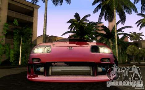 Toyota Supra Top Secret для GTA San Andreas вид справа