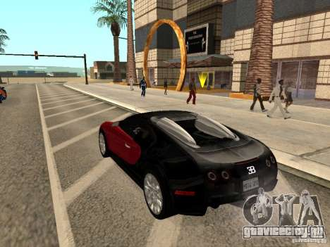 Bugatti Veyron для GTA San Andreas вид слева