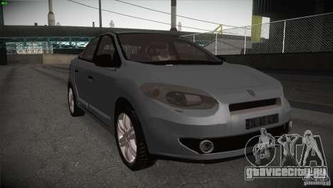 Renault Fluence для GTA San Andreas вид изнутри