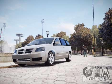 Dodge Grand Caravan SXT 2008 для GTA 4 вид изнутри