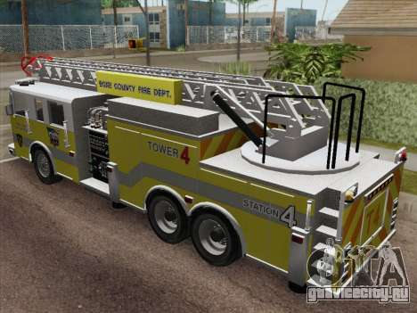 Pierce Arrow XT BCFD Tower Ladder 4 для GTA San Andreas вид сзади