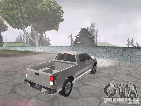 Toyota Tundra для GTA San Andreas вид сзади слева