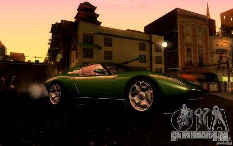 Lamborghini Miura Concept для GTA San Andreas вид сзади
